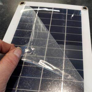 Peeling Plastic Film Being Removed